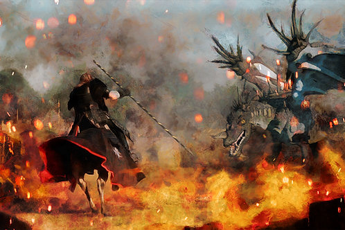 """Final Charge - 14""""x24"""" PLAYMAT"""