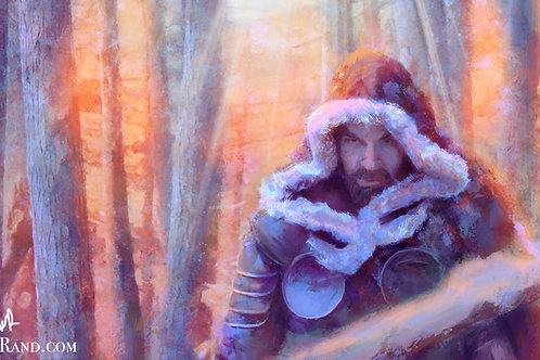 "Winter Walk - 12""x18"" Limited Edition Giclee Art Print"