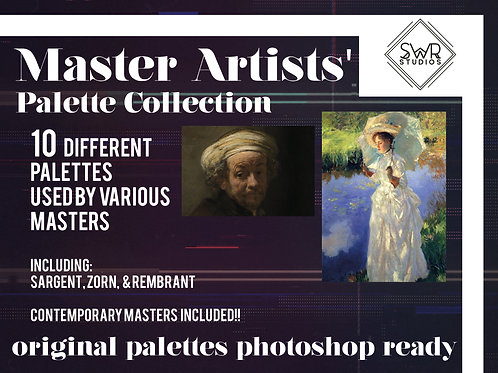 Paint Like A Master! - Master Artists' Palette Collection (Photoshop Ready)