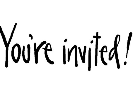 You are invited……….
