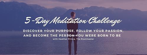 5 Day Meditation Challenge
