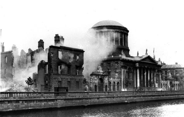 Irish Public Records Office, Four Courts, Dublin 1922 Fire