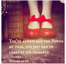 power, red shoes, wizard of oz, dorothy