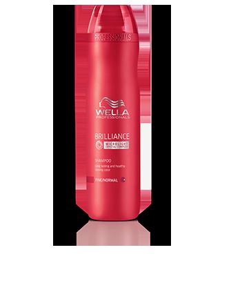Шампунь для окрашенных нормальных и тонких волос Wella Brilliance, 250 мл.