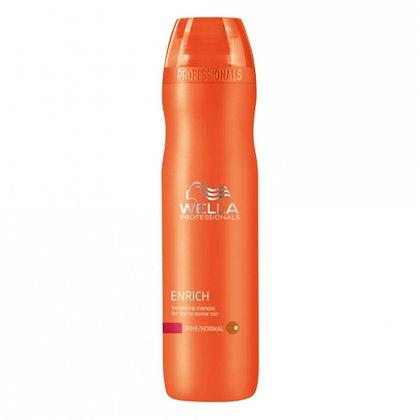 Питательный шампунь для объема нормальных и тонких волос Wella Enrich, 250 мл.