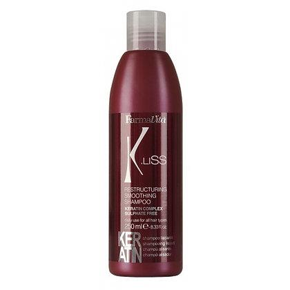 K.Liss Выпрямляющий шампунь с кератином (без сульфатов), 250 мл.