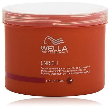 Питательная крем-маска для объема нормальных и тонких волос Wella Enrich, 500мл.