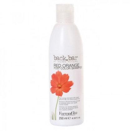 Специальный шампунь для окрашенных волос Back Bar Red Orange Shampoo, 250 мл.