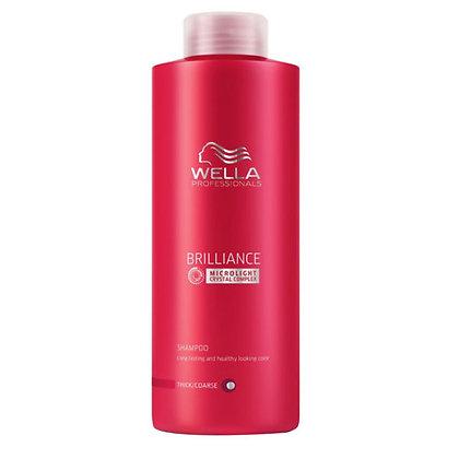 Шампунь для окрашенных нормальных и тонких волос Wella Brilliance, 1000 мл