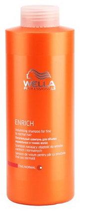 Питательный шампунь для объема нормальных и тонких волос Wella Enrich,1000 мл.