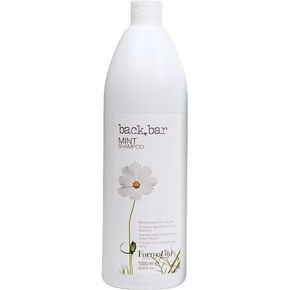 Нейтральный шампунь для всех типов волос Back Bar Mint Shampoo, 1 л.