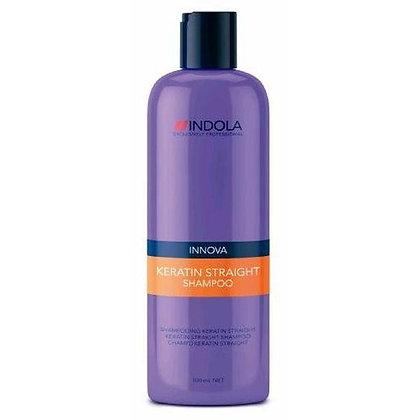 Шампунь Кератиновое выпрямление Indola Keratin straight shampoo, 300 мл.