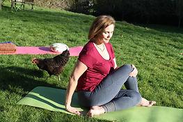 mindful moment at yoga retreat