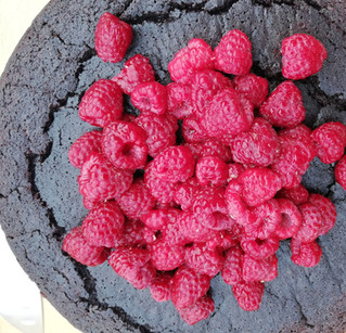 Rich chocolate and raspberry cake... and yes, it's vegan.