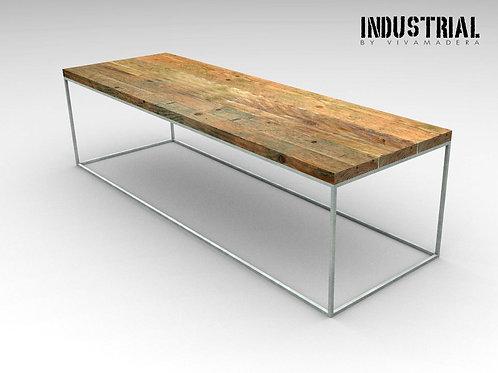 Mesa de centro base hierro 1.2 x 1.2 cm