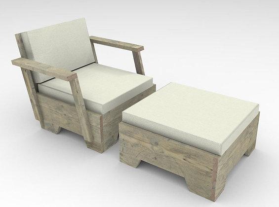 Tumbona sillon 2 piezas