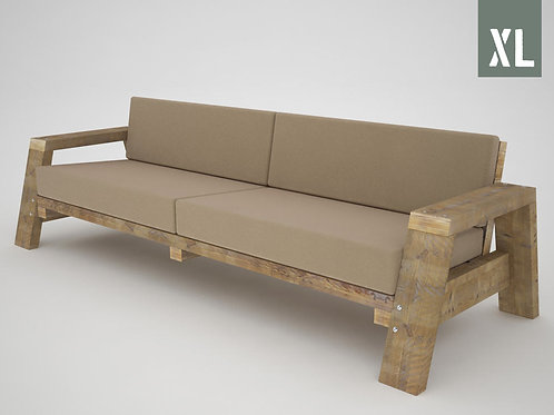 Sofa recto XL brazos inclinados