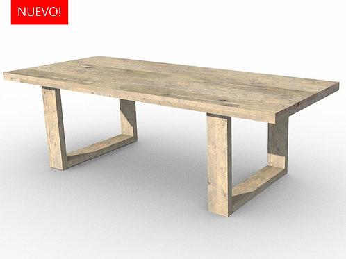 Mesa patas U de madera