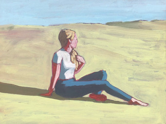 Woman in Field #9