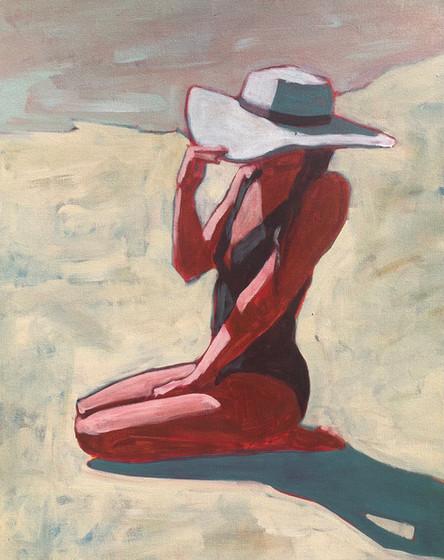 Woman on Beach #8