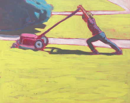 Bow Mowing Lawn