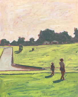 Woman and Child in Field