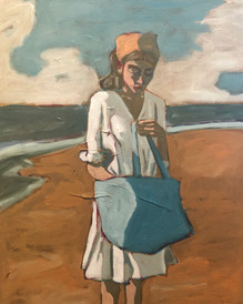 Woman by the Ocean