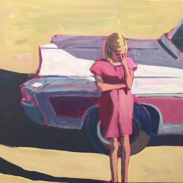 Girl against Car