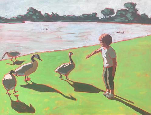 Boy and Ducks