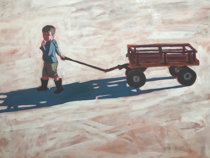 Boy and Wagon