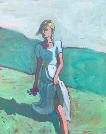 Woman in Field #4