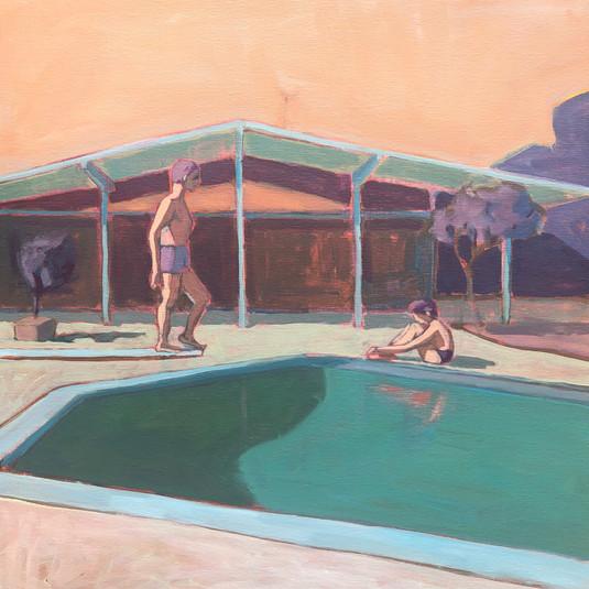 Men by Pool