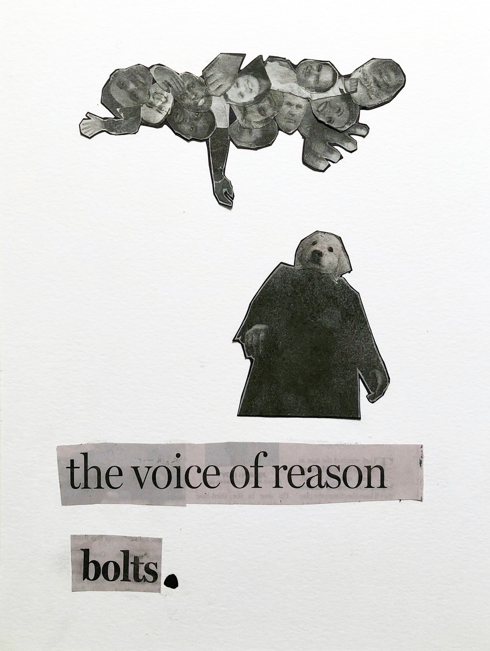 the voice of reason bolts.