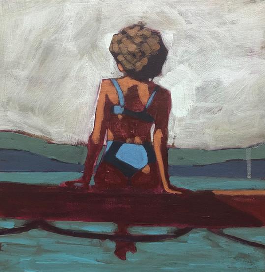 Woman on Dock #4