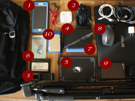 What's In My Bag? (Traveling Reporter Edition)