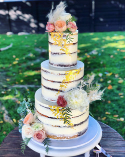 Naked Marble Wedding Cake