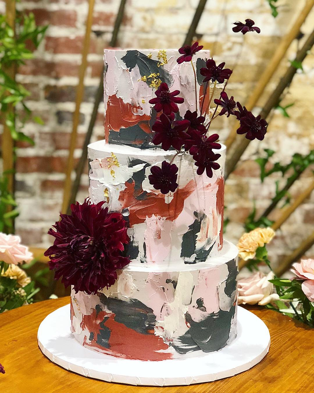 Spackled Wedding Cake