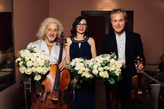 Concert in Moscow with Vadim Repin and Mischa Maisky
