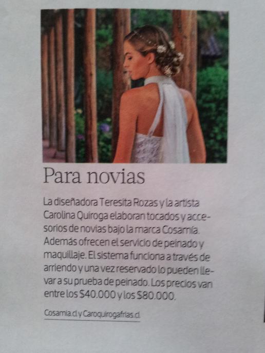 publicación revista Mujer.