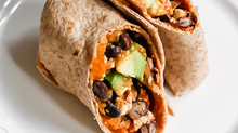 Sweet Potato Black Bean Breakfast Burritos