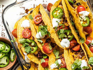 Baked Beef and Black Bean Tacos