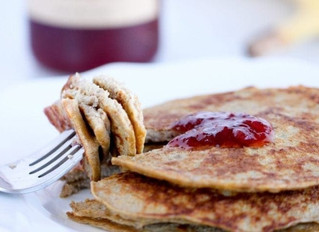 High Protein, Three Ingredient Pancakes