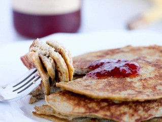 High Protein, Three Ingredient Pancakes