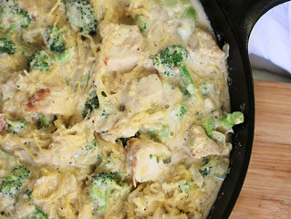 Paleo Chicken Alfredo Pasta