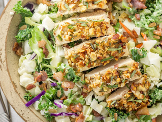 Rosemary Almond Crusted Chicken Salad