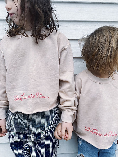 "Youth ""When there are Nine"" hand-dyed Crew"