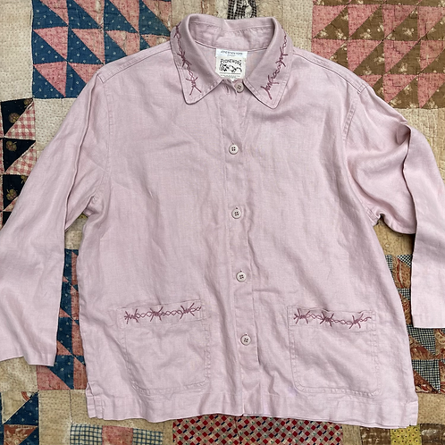 Dusty rose Barbed Linen chore jacket