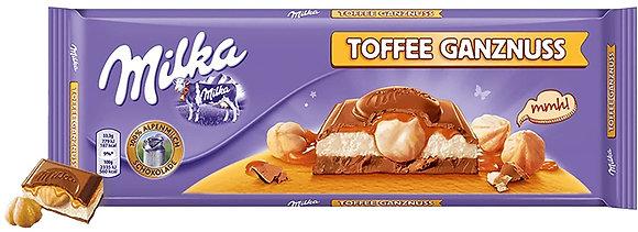 CHOCO MILKA TOFFE WHOLE NUTS 300GR