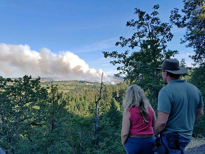 mosier creek fire Husekye rd people watc