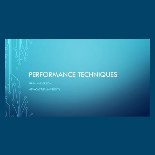 Performance Techniques - Singing.